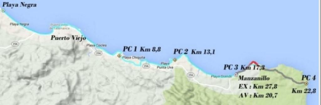 stage 5 route, beach, single track, forest, la Transtica, costa rica, ultra trail